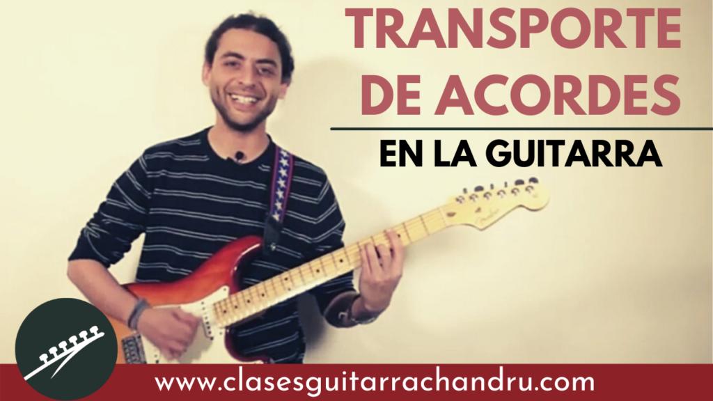 Transporte de acordes en al guitarra