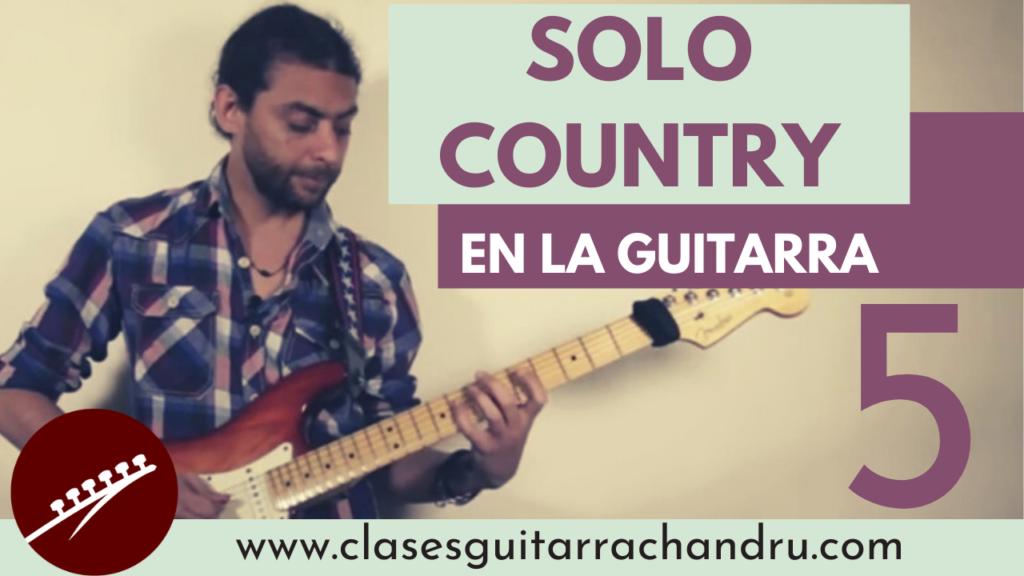 solo country en la guitarra