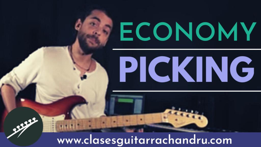 Economy picking en la guitarra